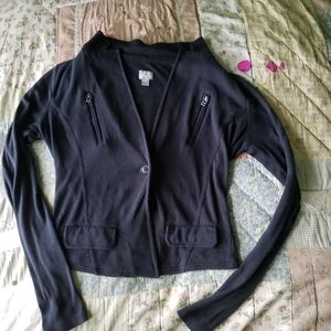 Converse One Star Ladies Black Top Size S